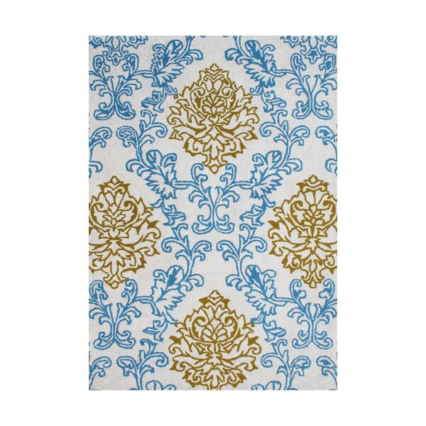Paulina Hand-Tufted Blue/Gold Area Rug by The Conestoga Trading Co.