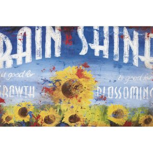Rain & Shine by Rodney White Vintage Advertisement on Wrapped Canvas by Rodney White