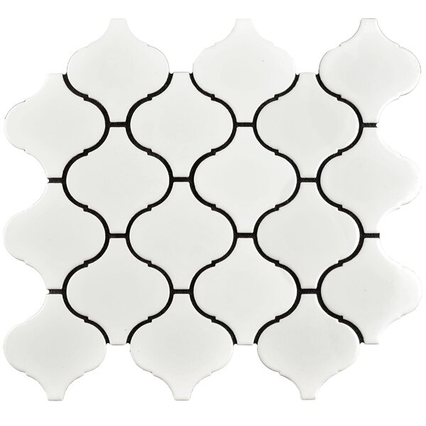 Caldera 3 x 3 Porcelain Mosaic Tile in White by EliteTile