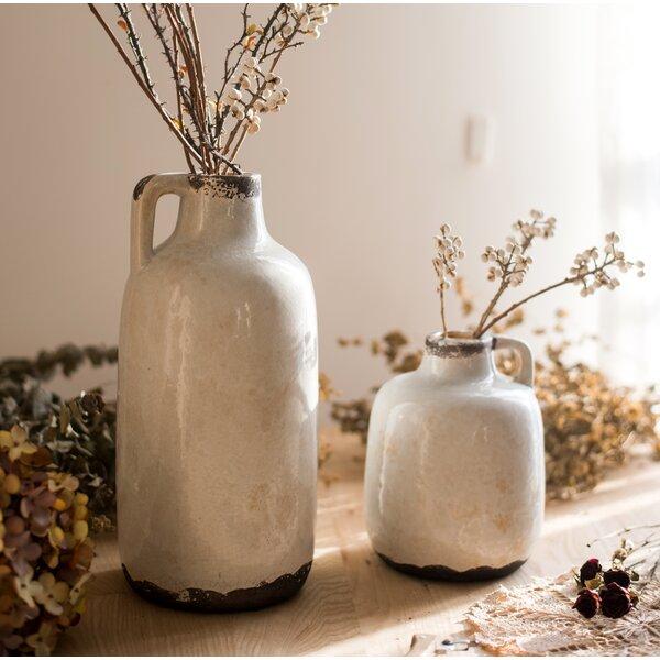 Aleksei Glazed Pottery Table Vase by Union Rustic