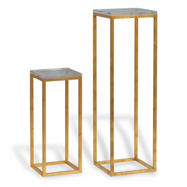 Drake Lucite 2 Piece Nesting Tables by Port 68