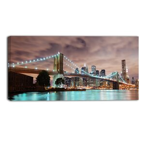 'New York City Panorama Cityscape' Photographic Print on Wrapped Canvas by Ebern Designs