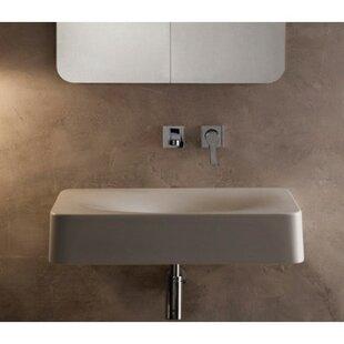 Fuji Ceramic Rectangular Vessel Bathroom Sink ByScarabeo by Nameeks