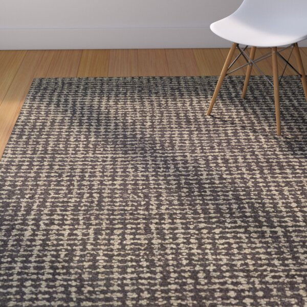 Carlane Hand-Woven Brown Area Rug by Corrigan Stud
