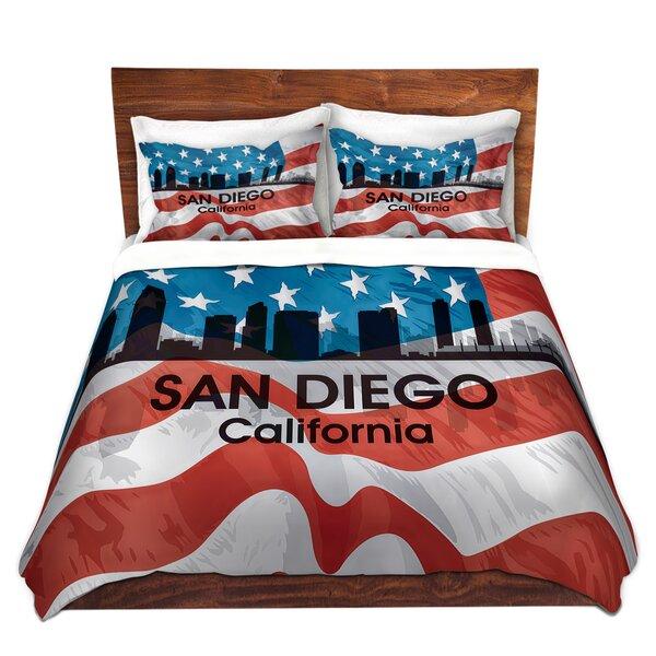 City VI San Diego California Duvet Cover Set