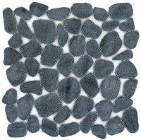 Cultura Pebbles 12 x 12 Marble Tile in Black by Emser Tile
