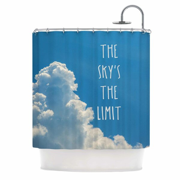 Bruce Stanfield the Skys the Limit Square Typography Nature Shower Curtain by East Urban Home