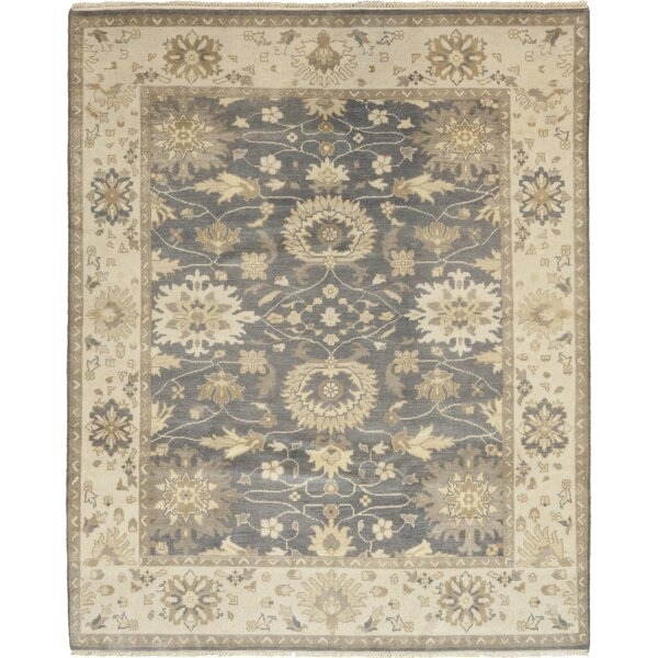 One-of-a-Kind Dionne Hand-Knotted Wool Gray/Beige Indoor Area Rug by Darby Home Co