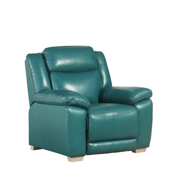 Evansburg Leather Manual Recliner [Red Barrel Studio]