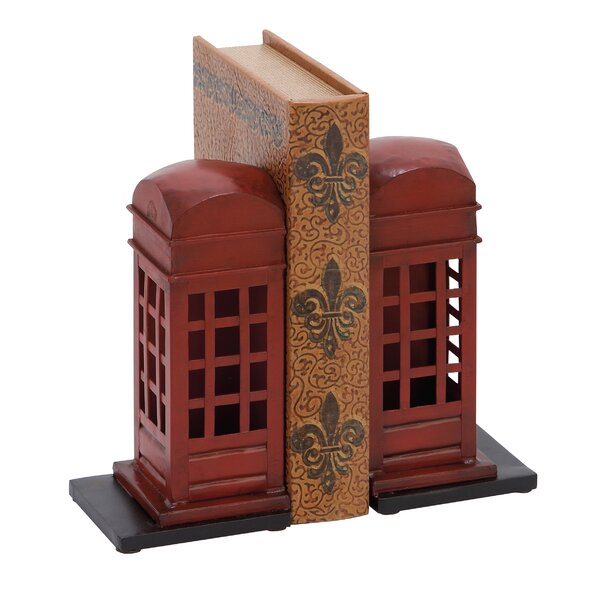 Metal Book Ends (Set of 2) by Ivy Bronx