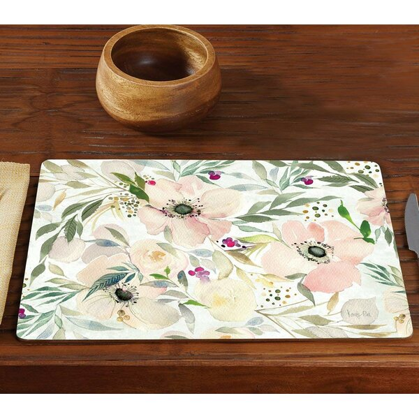 Stringer Pastel Floral Hardboard 15.75 Placemat (Set of 2) by Bay Isle Home