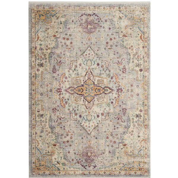 Soren Lilac/Light Gray Area Rug by Bungalow Rose