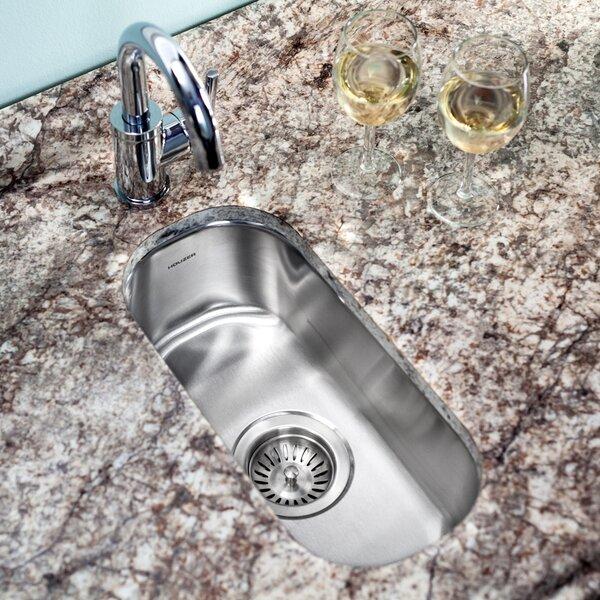 Club 17.94 L x 9.31 W Undermount Element Bar Sink by Houzer