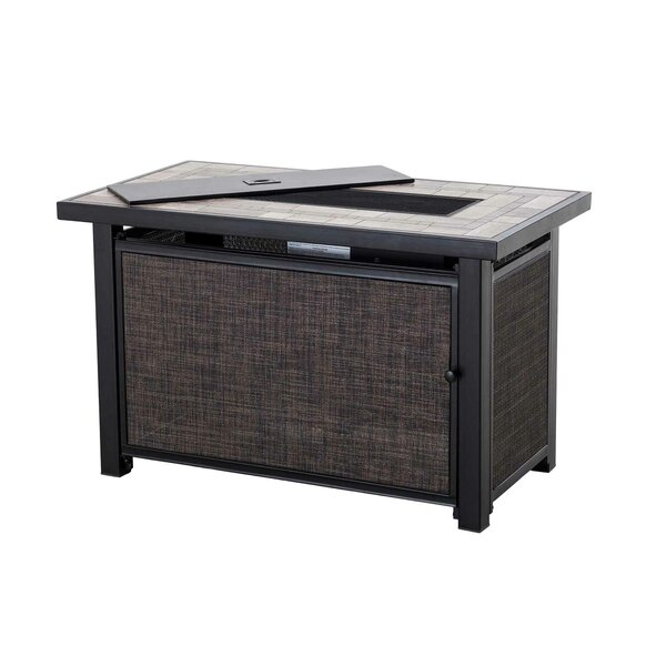 Hartnell Rectangular Polyresin Gel Fire Pit Table by Sunjoy
