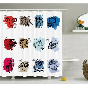 Alexi Zodiac Signs Art Shower Curtain ByEbern Designs