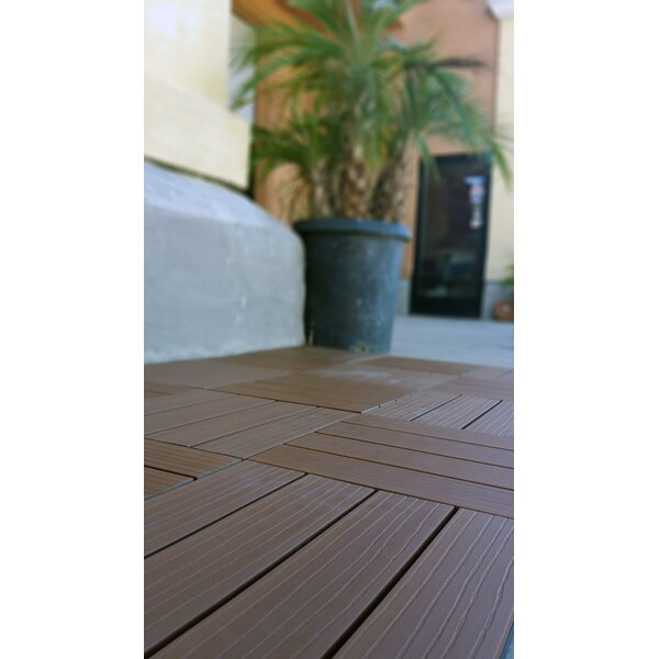 Composite Cedar 12 x 12 Interlocking Deck Tiles by