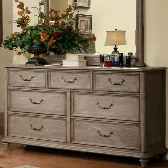 Floria 7 Drawer Dresser with Mirror by Darby Home Co