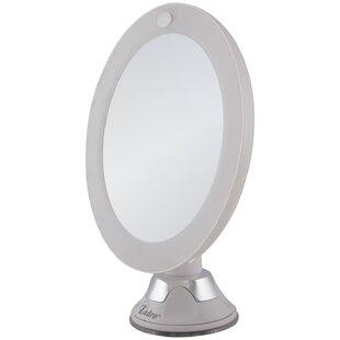 Raf LED Lighted Z'Swivel Power Suction Cup Mirror By Orren Ellis
