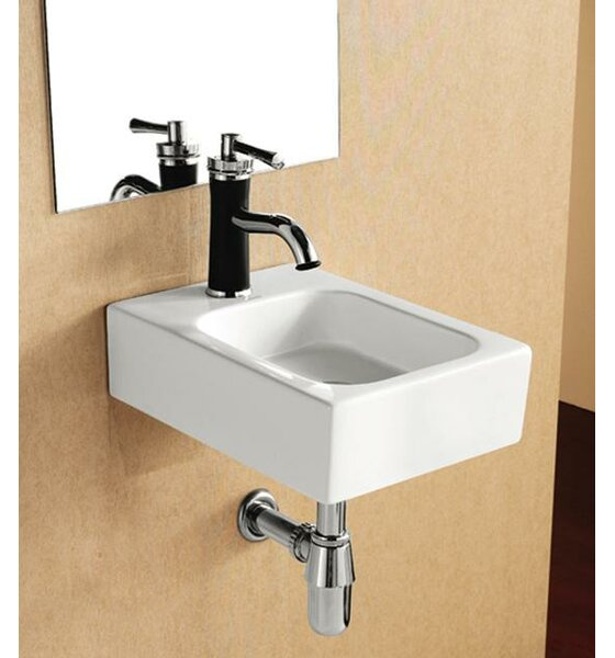Porcelain Ceramic 12 Wall Mount Bathroom Sink by Elanti
