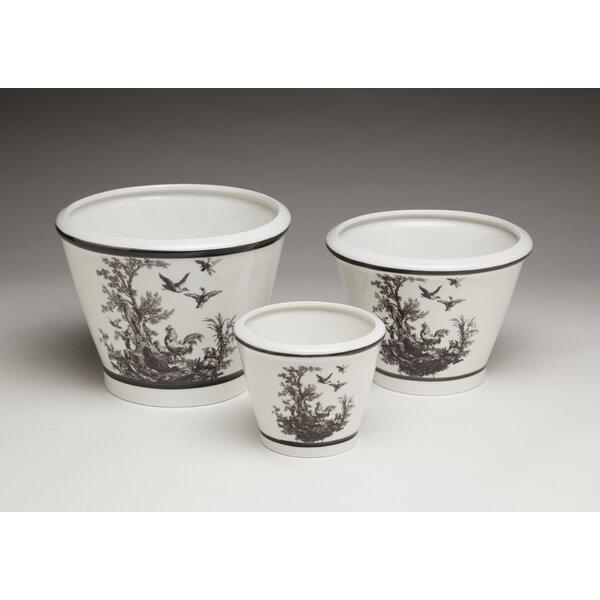 Tal 3 Piece Ceramic Pot Planter Set by Ophelia & Co.
