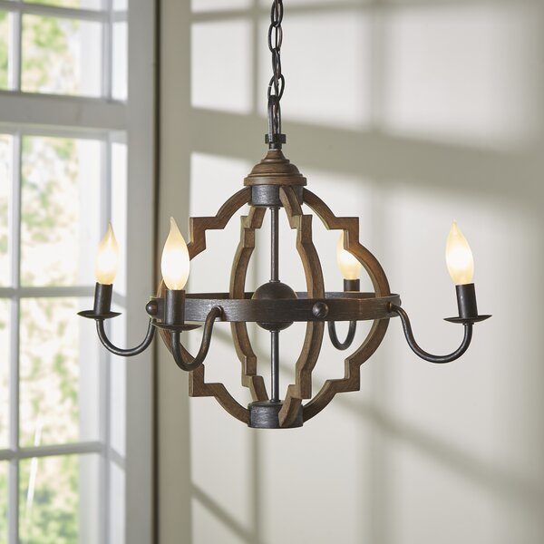Donna 4-Light Candle-Style Chandelier & Reviews