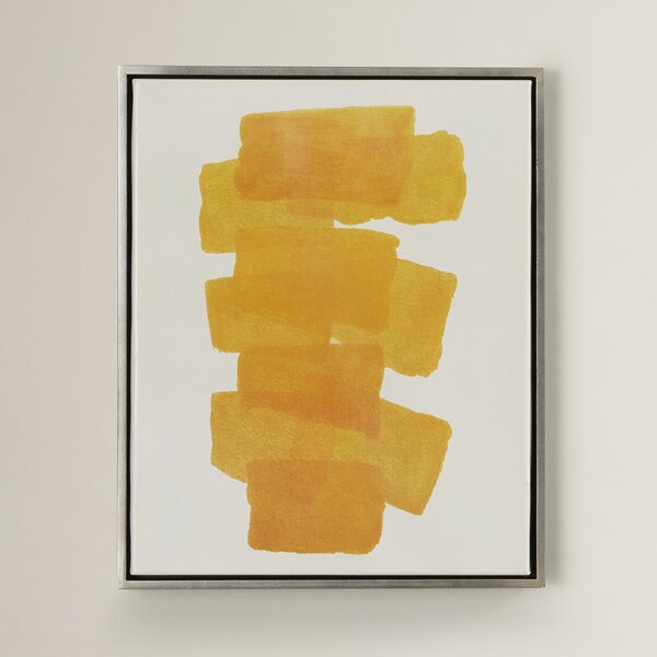 Gunther Framed Painting Print on Canvas in Yellow by Langley Street