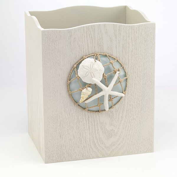 Seaglass Waste Baskets by Avanti Linens