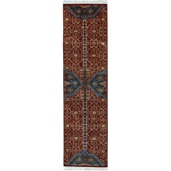 One-of-a-Kind Abbot Bridge Hand-Knotted Wool Red Area Rug by Isabelline