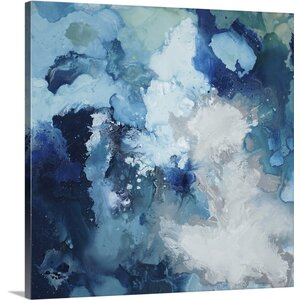 'Blu Flo' by Randy Hibberd Painting Print on Canvas by Canvas On Demand