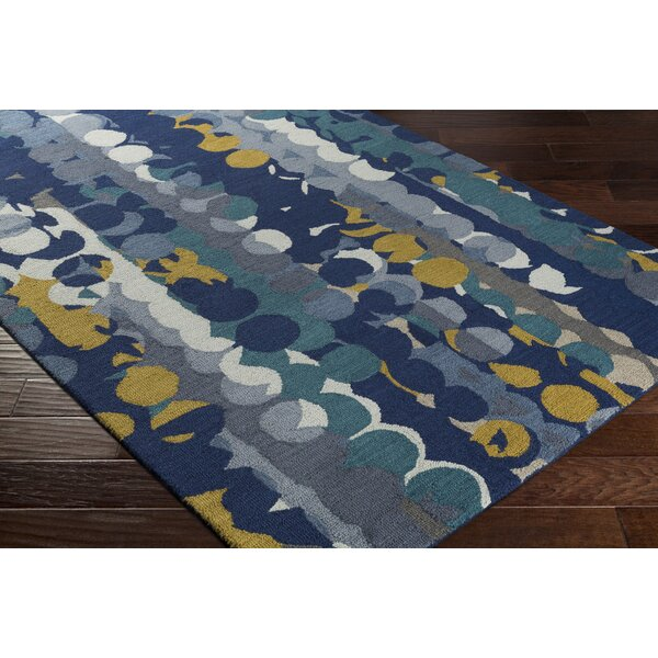 Senger Hand-Tufted Blue Area Rug by Wrought Studio