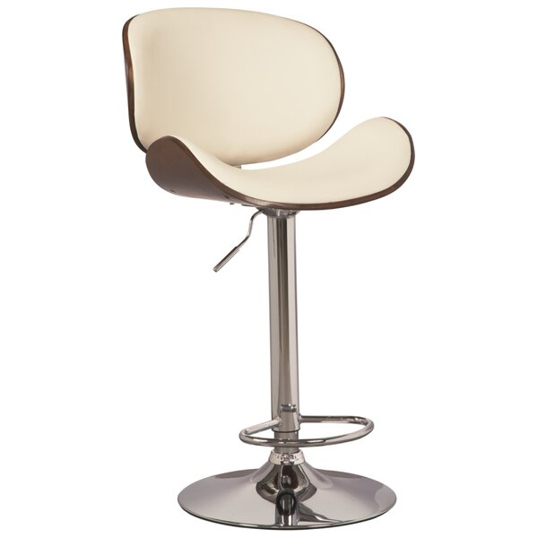 Menges Adjustable Height Swivel Bar Stool by Wrought Studio