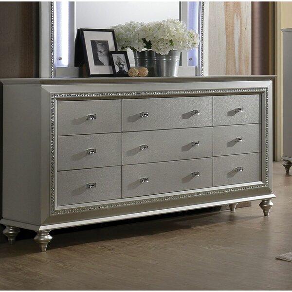 Dehon 9 Drawer Double Dresser by Rosdorf Park
