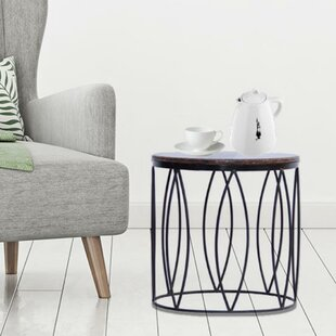 Order Daniels Contemporary Style Iron End Table By Ivy Bronx