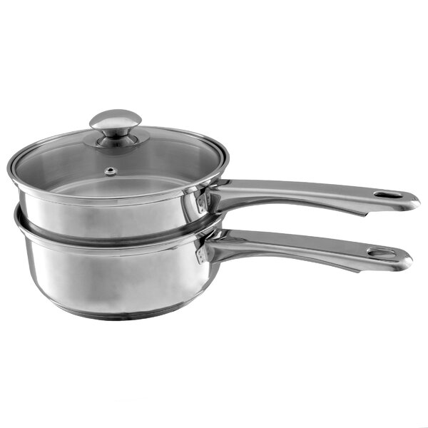 3 Qt. Stainless Steel Double Boiler with Lid by Classic Cuisine