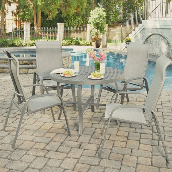 Dinapoli Outdoor 5 Piece Dining Set by Red Barrel Studio