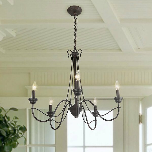 Cherryl 5 - Light Candle Style Classic Chandelier By Winston Porter
