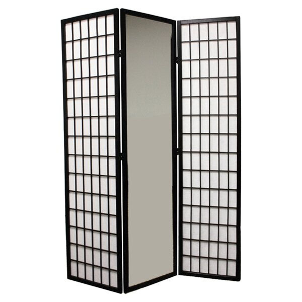 Mirrored 3 Panel Room Divider by ORE Furniture