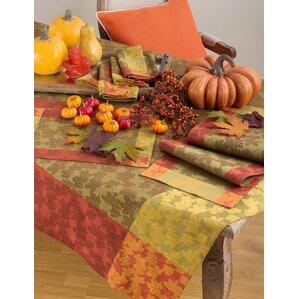 Arlington Fall Foliage Autumn Leaf Design Jacquard Cotton Tablecloth