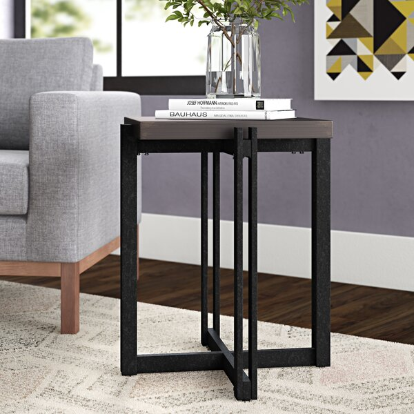 Baran Distressed End Table by Ivy Bronx