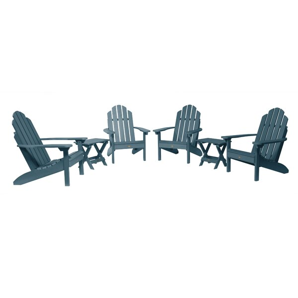 Kristopher Classic Plastic/Resin Adirondack Chair with Table by Longshore Tides Longshore Tides
