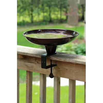 Deck Rail Birdbath PineBush