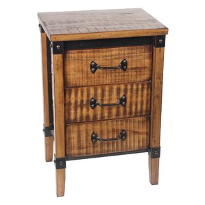 Minidoka 3 Drawer End Table by Loon Peak