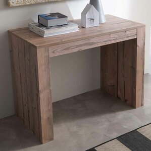 YumanMod Space Metal Mechanism Zebrano Wood Transformable Console Table Image