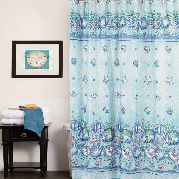Oceanic Water Resistant Shower Curtain by Sweet Home Collection