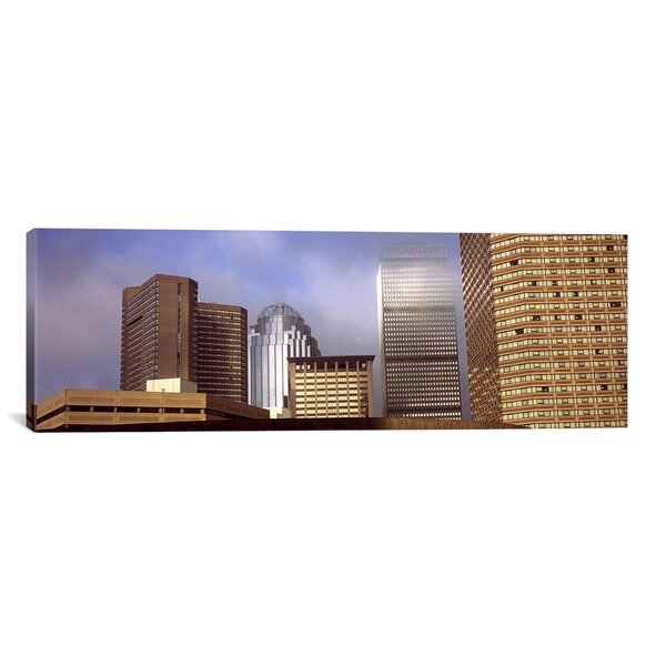 Panoramic Skyscrapers in a City, Boston, Suffolk County, Massachusetts Photographic Print on Canvas by iCanvas