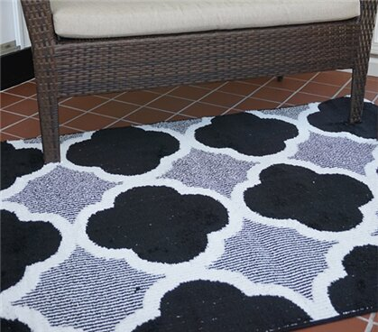 Norfolk Black Area Rug by House of Hampton