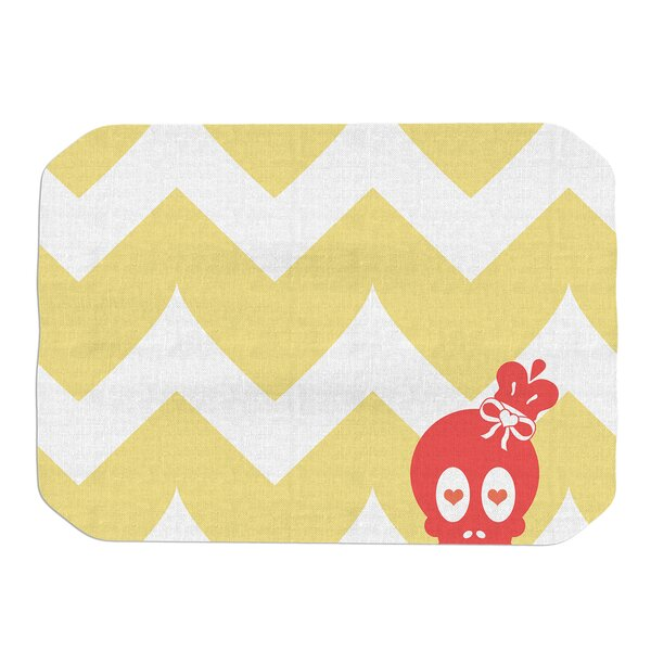 Nick Atkinson Skull II Chevron Placemat by East Urban Home