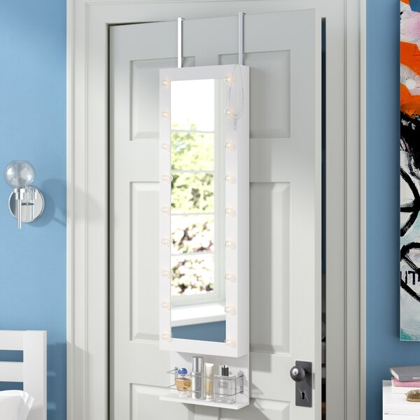 Charney LED Wall Mounted Jewelry Armoire with Mirror by Ebern Designs