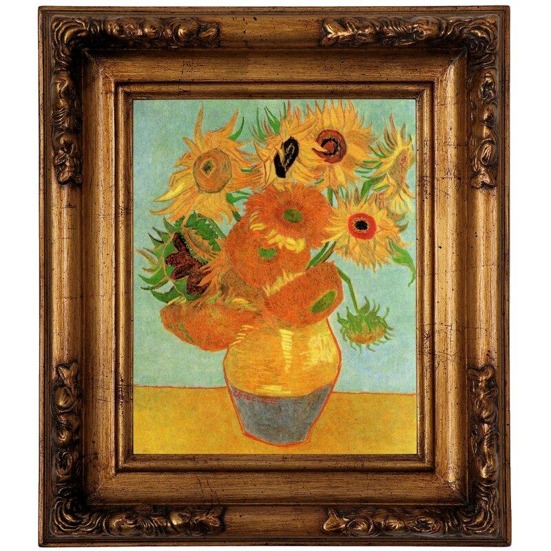 Orange  Flower Vase design print home decor wall arts classic canvas