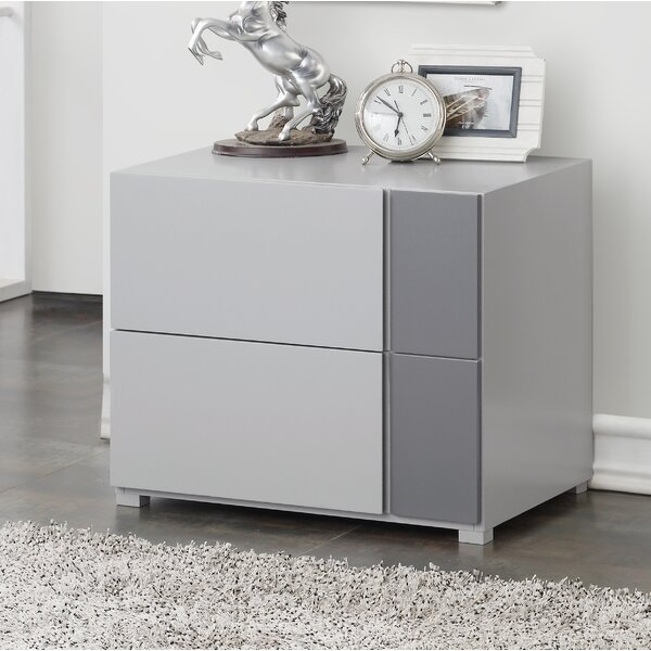Bottorff 2 Drawer Nightstand by Orren Ellis